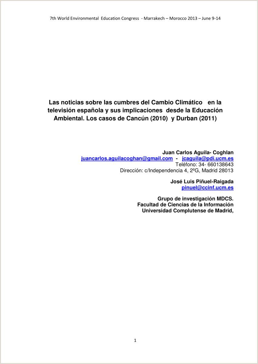 PDF Las noticias sobre las cumbres del Cambio Climático en