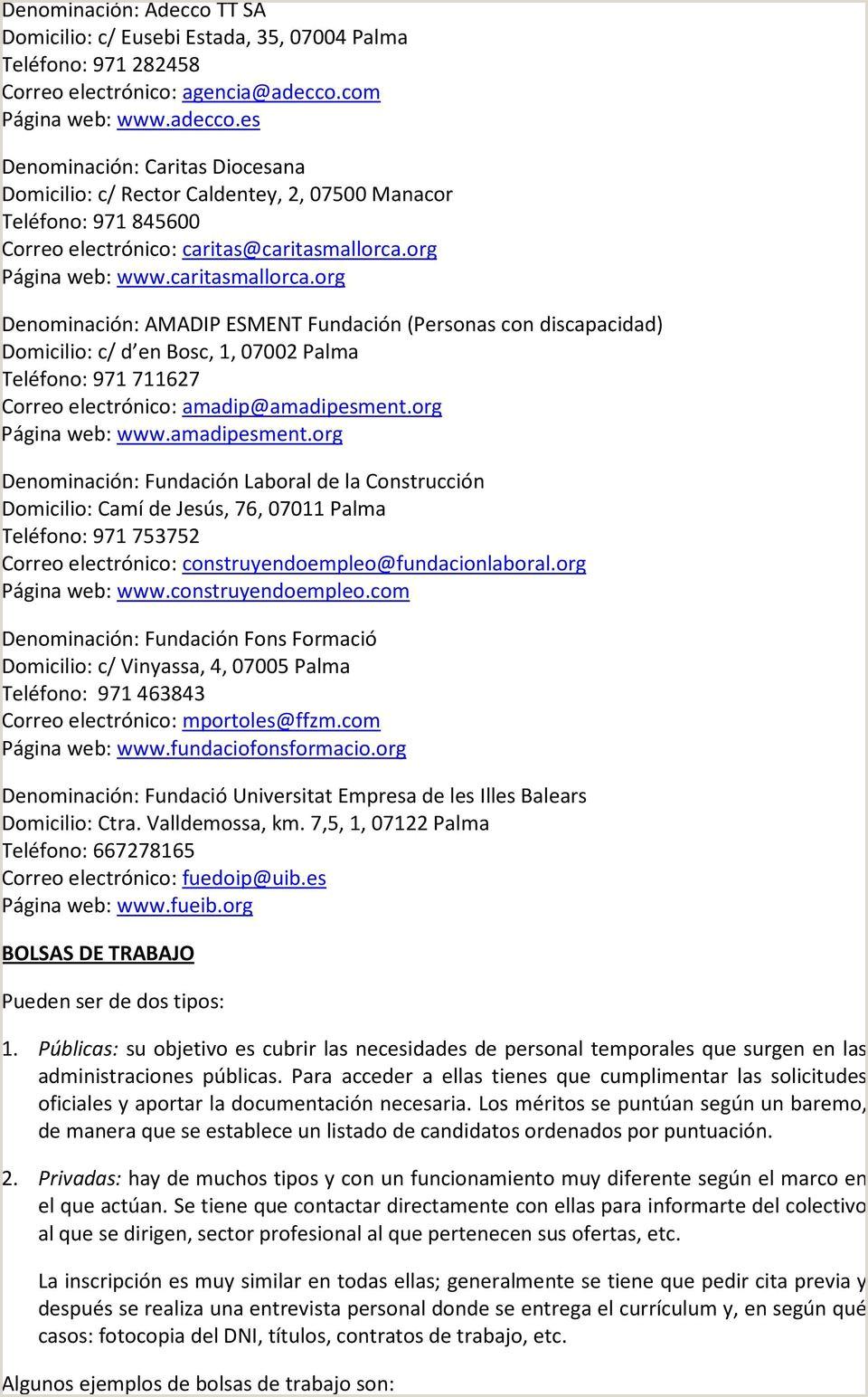 Formato De Hoja De Vida Adecco Manual Para La Bšsqueda De Empleo Pdf