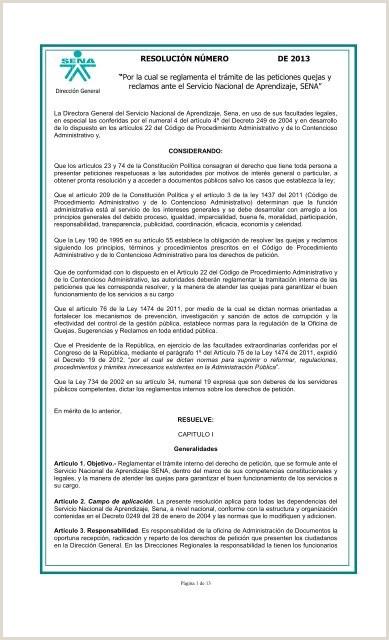 Formato De Hoja De Vida Aprendiz Sena Por La Cual Se Reglamenta El Trámite De Las Peticiones