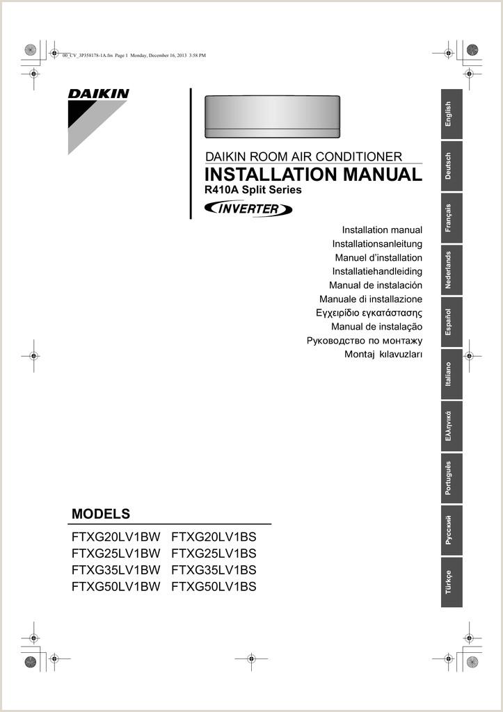manual instalare daikin CE FTXG20LW WIFI
