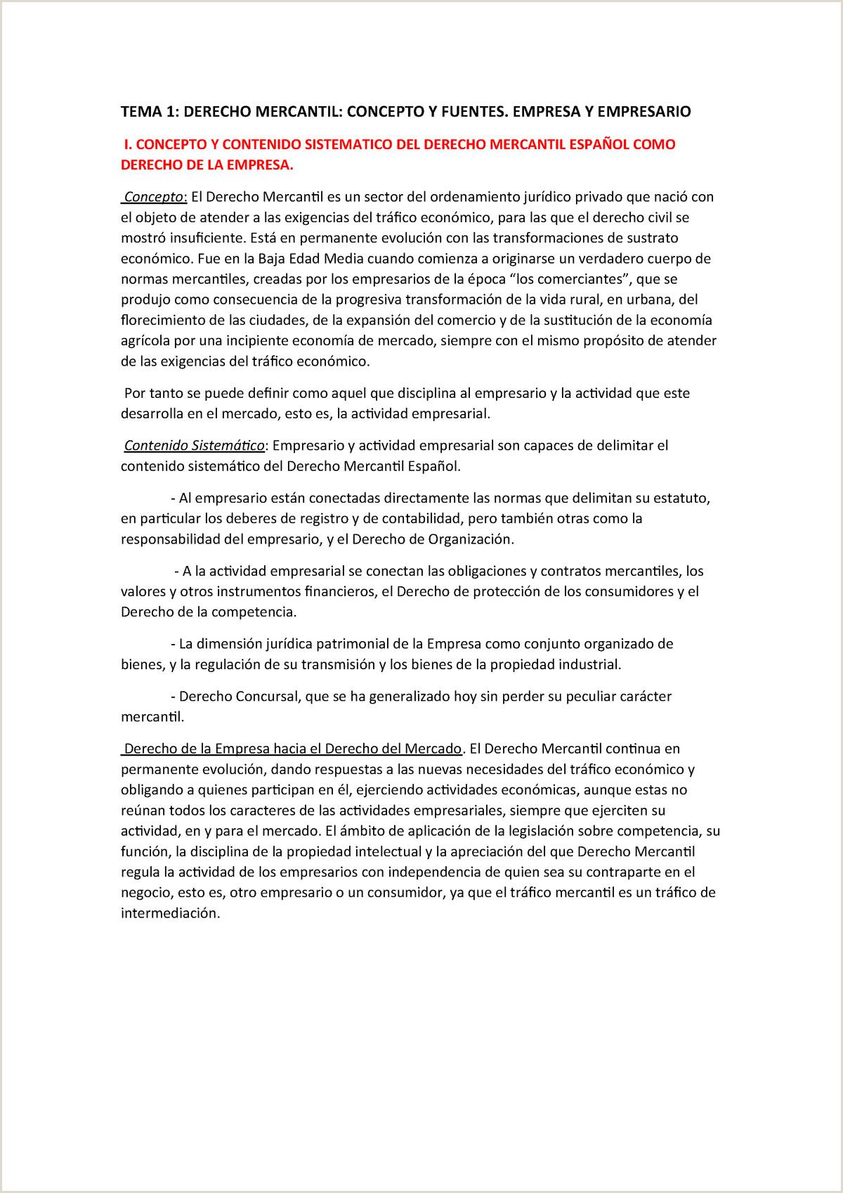 Resumen 1 5 Derecho Mercantil UA StuDocu