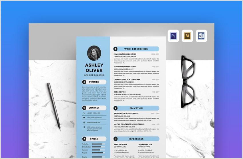 Formato De Hoja De Vida Azul 20 De Las Mejores Plantillas De Hoja De Vida De Una Página