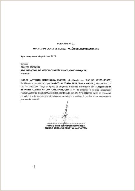 "Formato De Hoja De Vida Bachiller formato N° 01 Modelo De Carta De Acreditaci""n Seace"