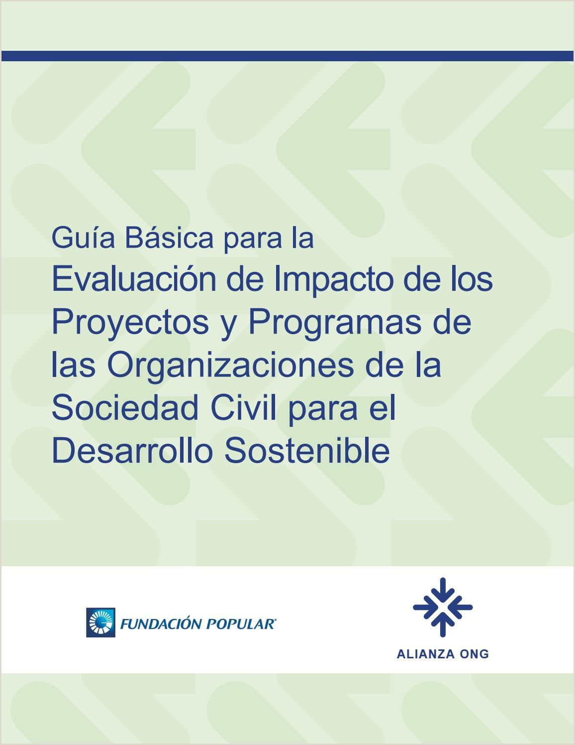 Formato De Hoja De Vida Banco Popular Gua Básica Para La Evaluaci³n De Impacto De Los Proyectos Y