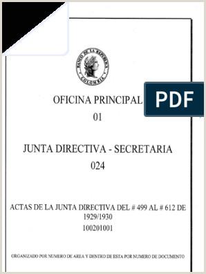 Formato De Hoja De Vida Bancolombia Junta Directiva Del Banco De La Republica Acta Del Dia 8 De
