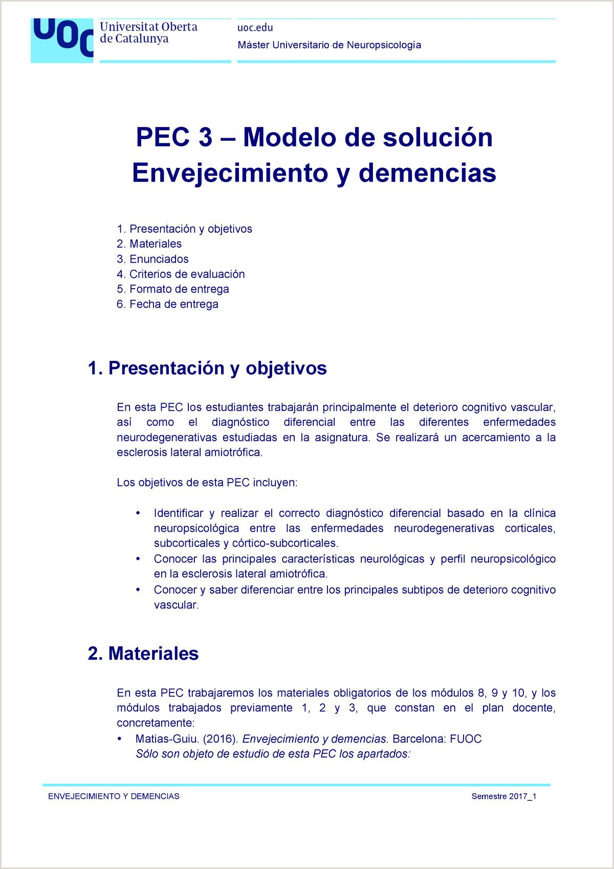 Formato De Hoja De Vida Basica En Word M0 355 Pec 3 solucion Envejecimiento Y Demencias 2017 1 2