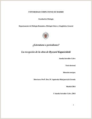 Formato De Hoja De Vida Bien Presentada Literatura O Periodismo La Recepci³n De La Obra De Ryzard