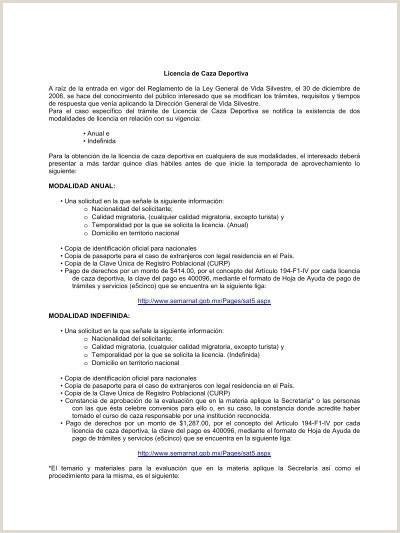 Licencia de Caza Deportiva A raz de la entrada en vigor