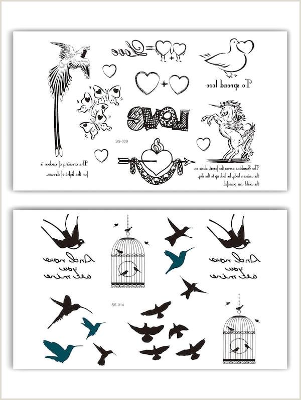 Pegatinas de tatuaje con patr³n de animal y coraz³n 2 hojas