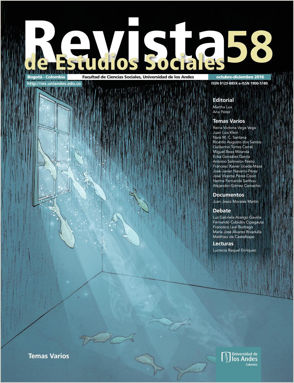Revista de Estudios Sociales No 58 by Publicaciones Faciso