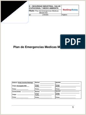 Formato De Hoja De Vida Colombia Para Descargar Plan De Emergencias Medicas Medevac Titulo