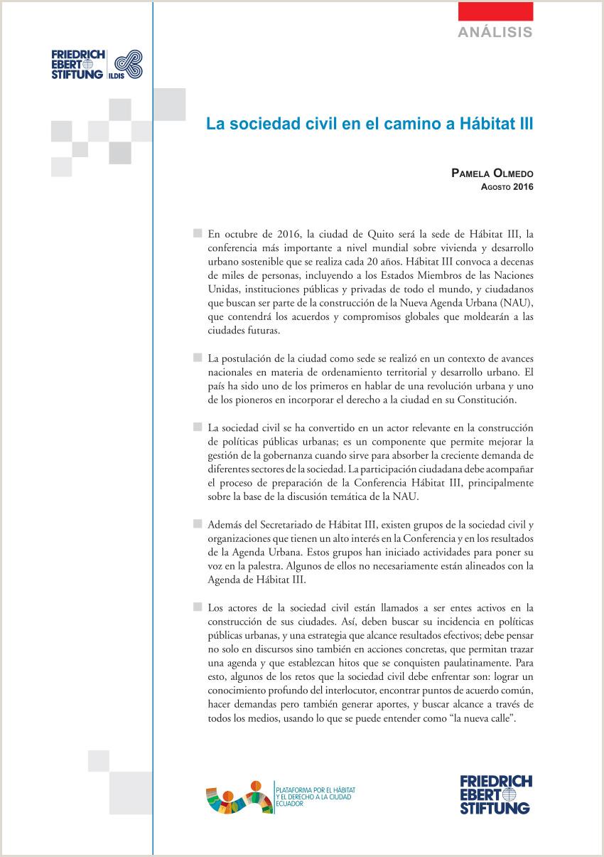 PDF La Sociedad Civil en el camino a Hábitat III