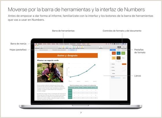 Formato De Hoja De Vida Con Foto Numbers Para Mac Gua De Introducci³n Macos Sierra En Apple