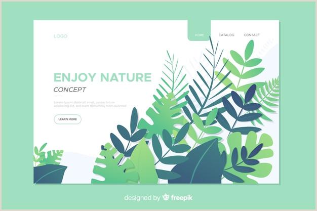 Landing page de naturaleza con hojas