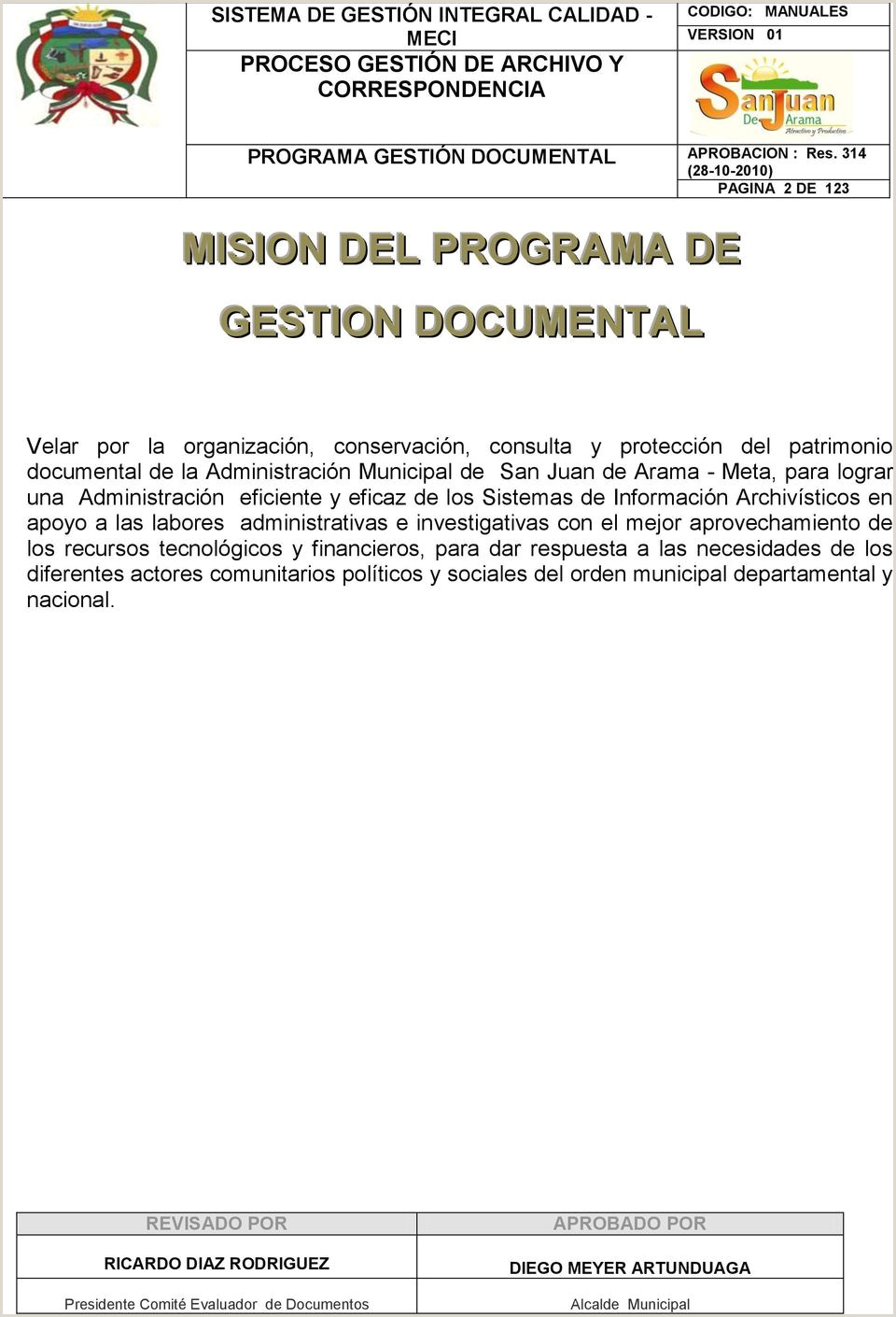 "SISTEMA DE GESTI""N INTEGRAL CALIDAD MECI PROCESO GESTI""N"