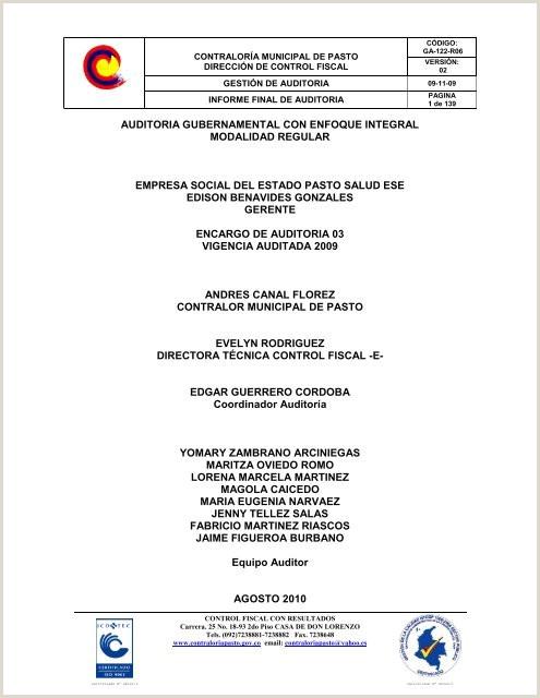 Descargar el informe Contralora Municipal de Pasto