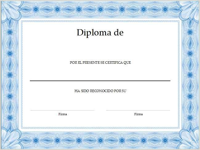 Formato De Hoja De Vida Descargar Gratis formato Para Crear Diplomas