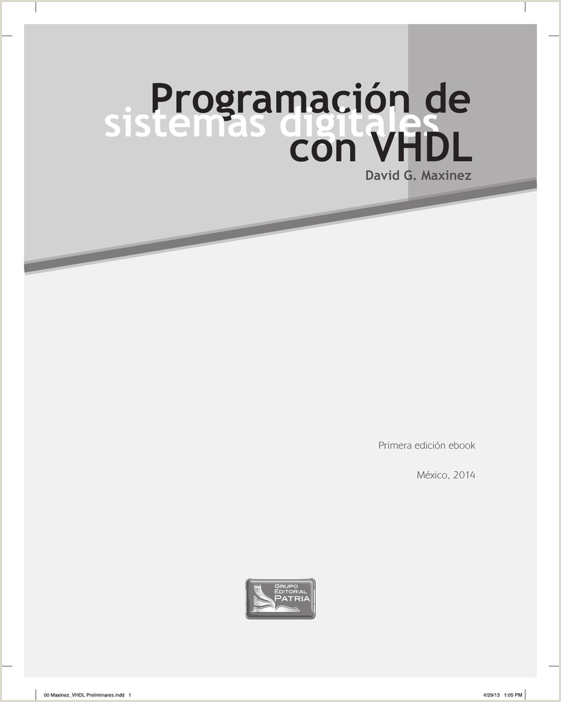 Programaci³n de sistemas digitales con VHDL