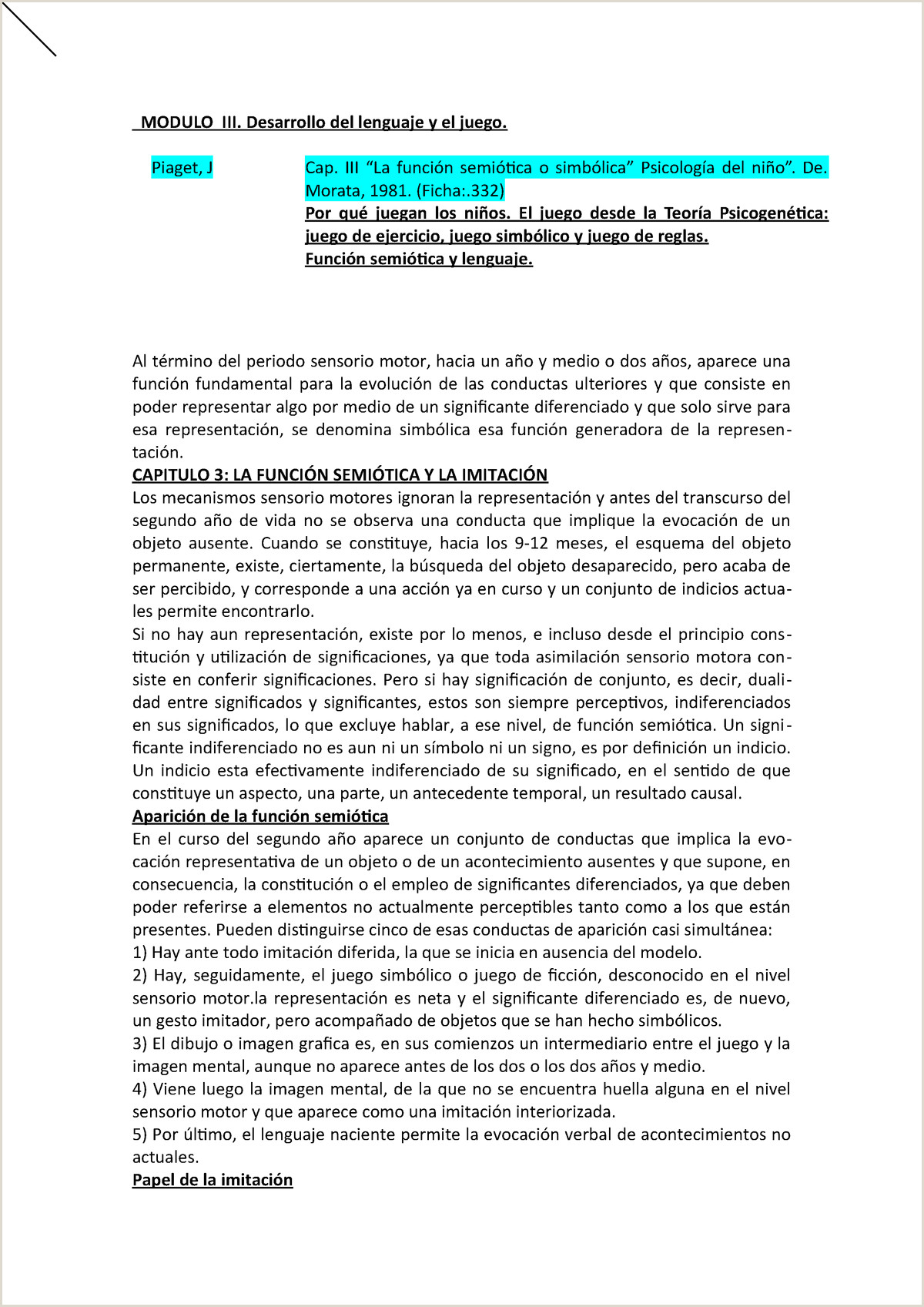 Formato De Hoja De Vida Editable Modulos 3 Resumen Modulo De Psicoanalisis En Relacion Al