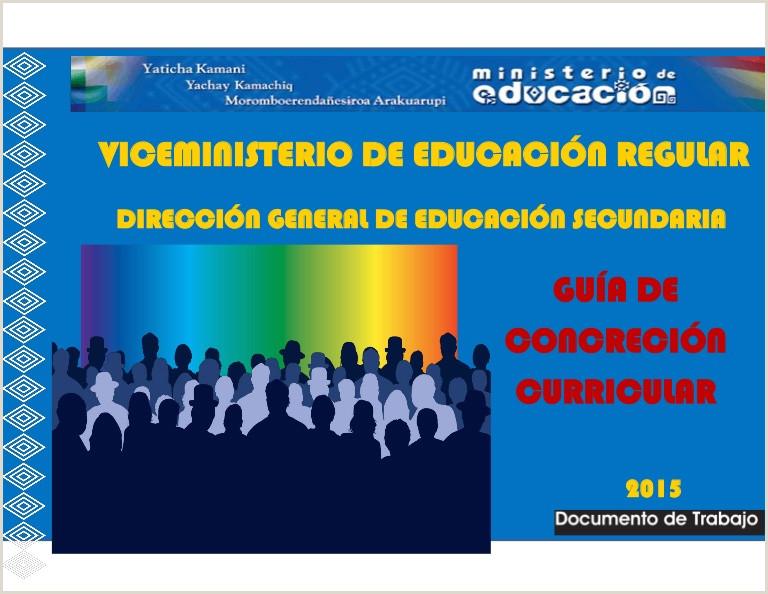 Formato De Hoja De Vida En Bolivia Gua De Concreci³n Curricular Secundaria
