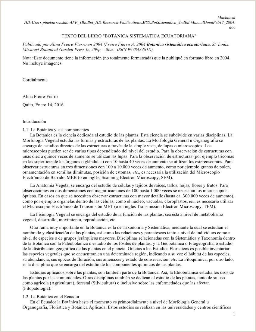 Formato De Hoja De Vida En Bolivia Pdf Botánica Sistemática Ecuatoriana