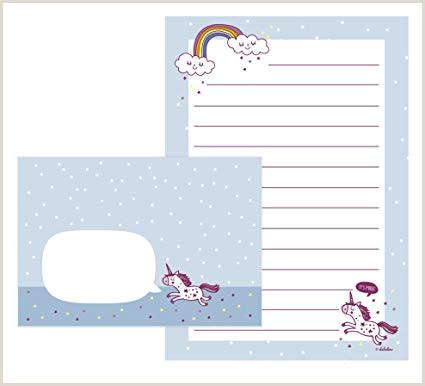 Unicornio de Juego de papel de cartas para ni±a 25 hojas de