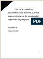 Verificaci³n de Accesibilidad Tegucigalpa