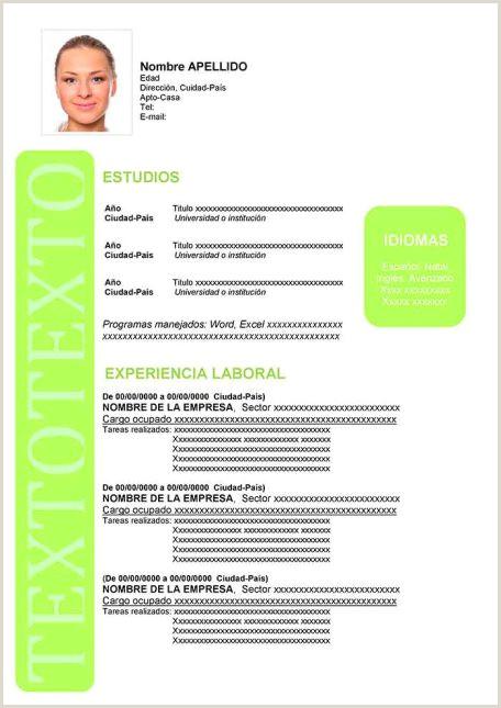 Formato De Hoja De Vida En Word Colombia Ejemplos De Hoja De Vida Modernos En Word Para Descargar