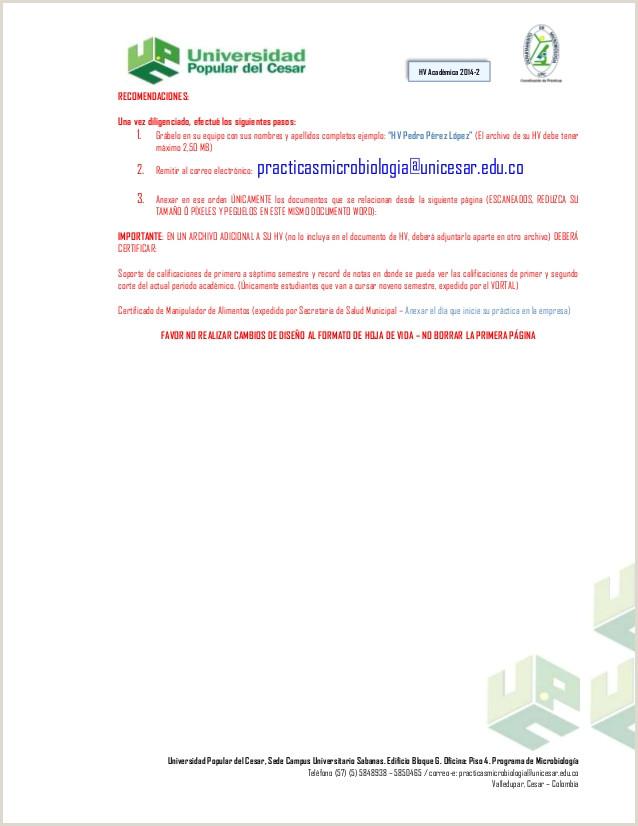 Formato HV 2014 2