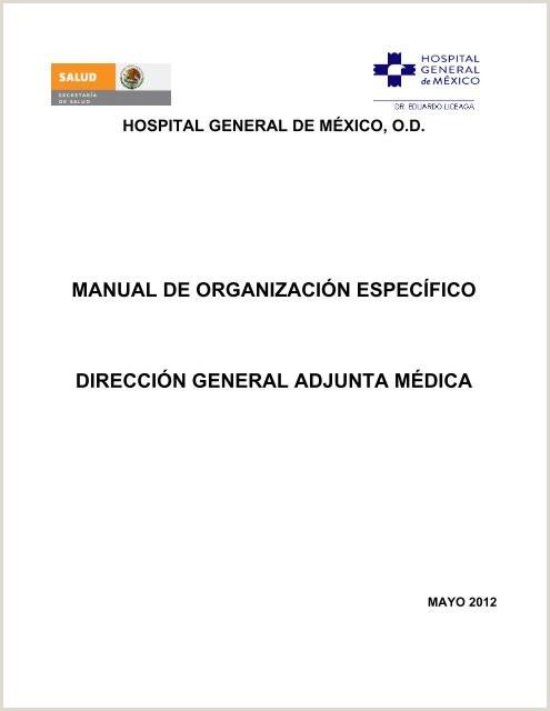 manual de organizaci³n especfico direcci³n general adjunta