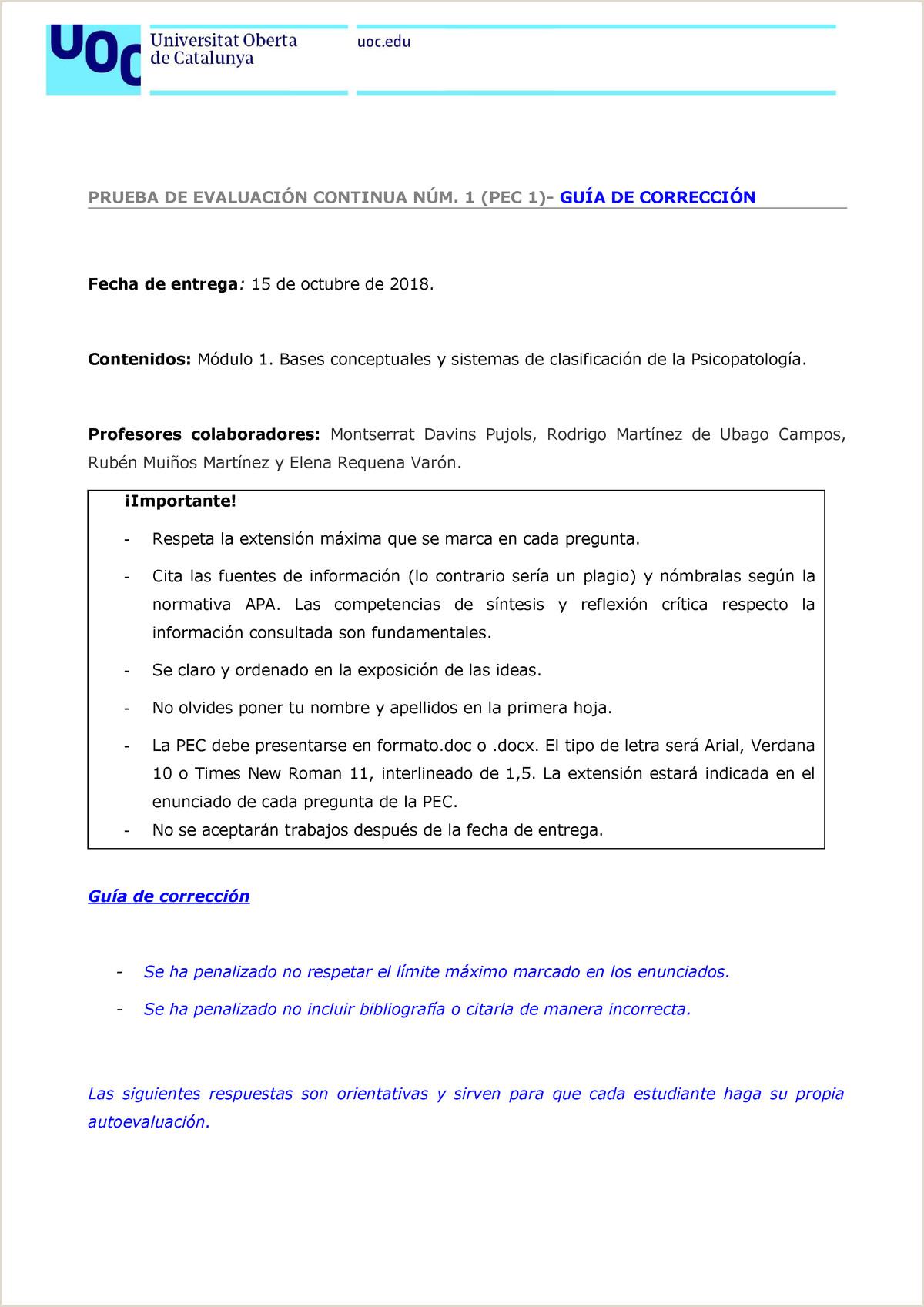 Formato De Hoja De Vida Estudiante Pec1 Gua De Correcci³n 80 521 Psicopatologa Adultos