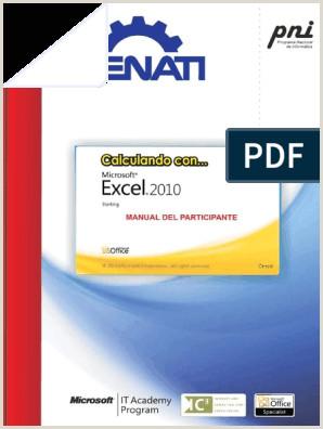 Formato De Hoja De Vida Excel Manual De Excel Senati