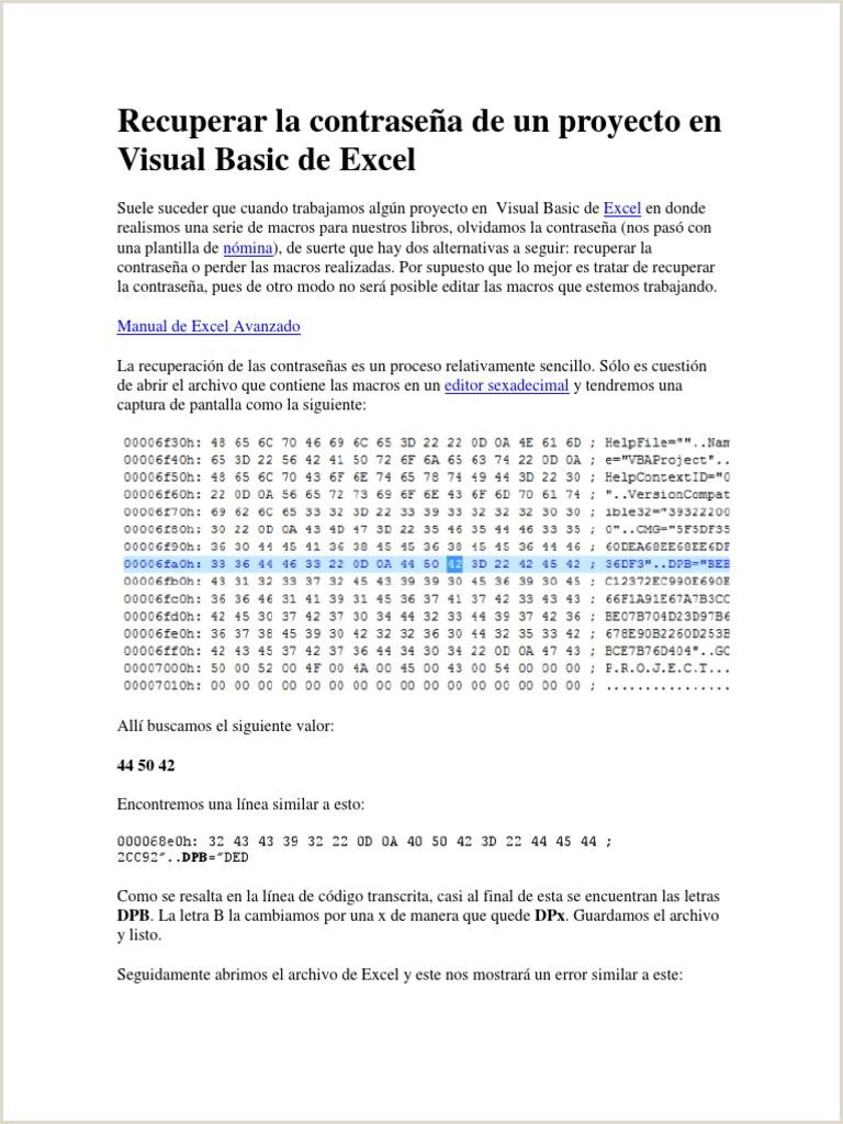 Recuperar la contrase±a de un proyecto en Visual Basic de