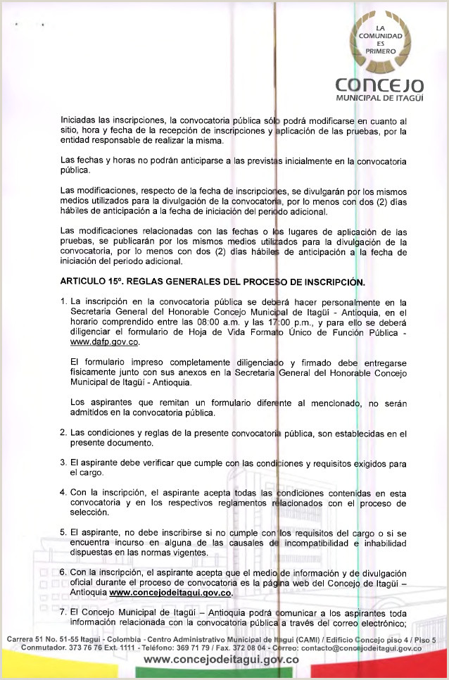 Formato De Hoja De Vida Funcion Publica Colombia Resolucion 105 De 2015 Convocatoria Secretario General