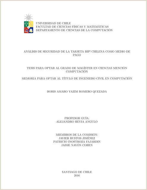 Analisis de seguridad de la Tarjeta Bip chilena o medio
