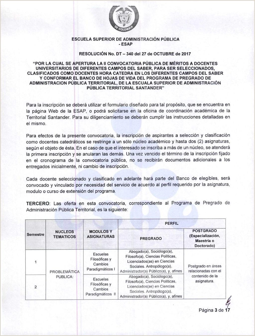 "ESCUELA SUPERIOR DE ADMINISTRACI""N PšBLICA ESAP"