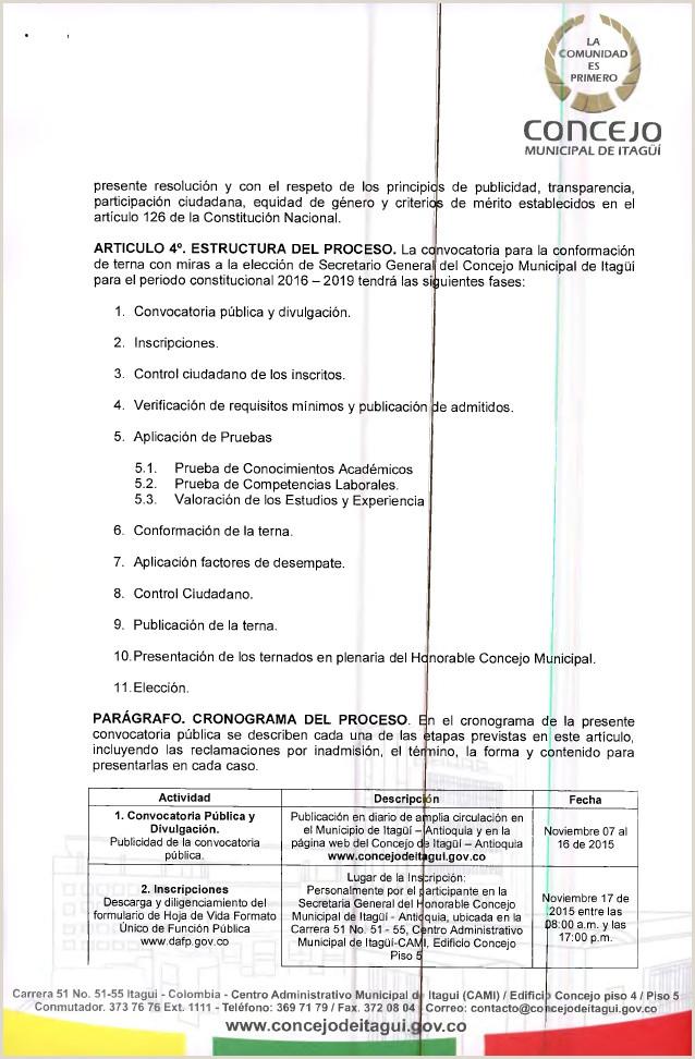 Formato De Hoja De Vida Funcion Publica Para Diligenciar Resolucion 105 De 2015 Convocatoria Secretario General