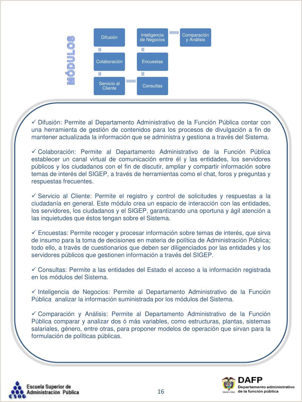"""Formato De Hoja De Vida Funcion Publica Sigep Ppt Sistema De Informaci""""n Y Gesti""""n Del Empleo Pšblico"""