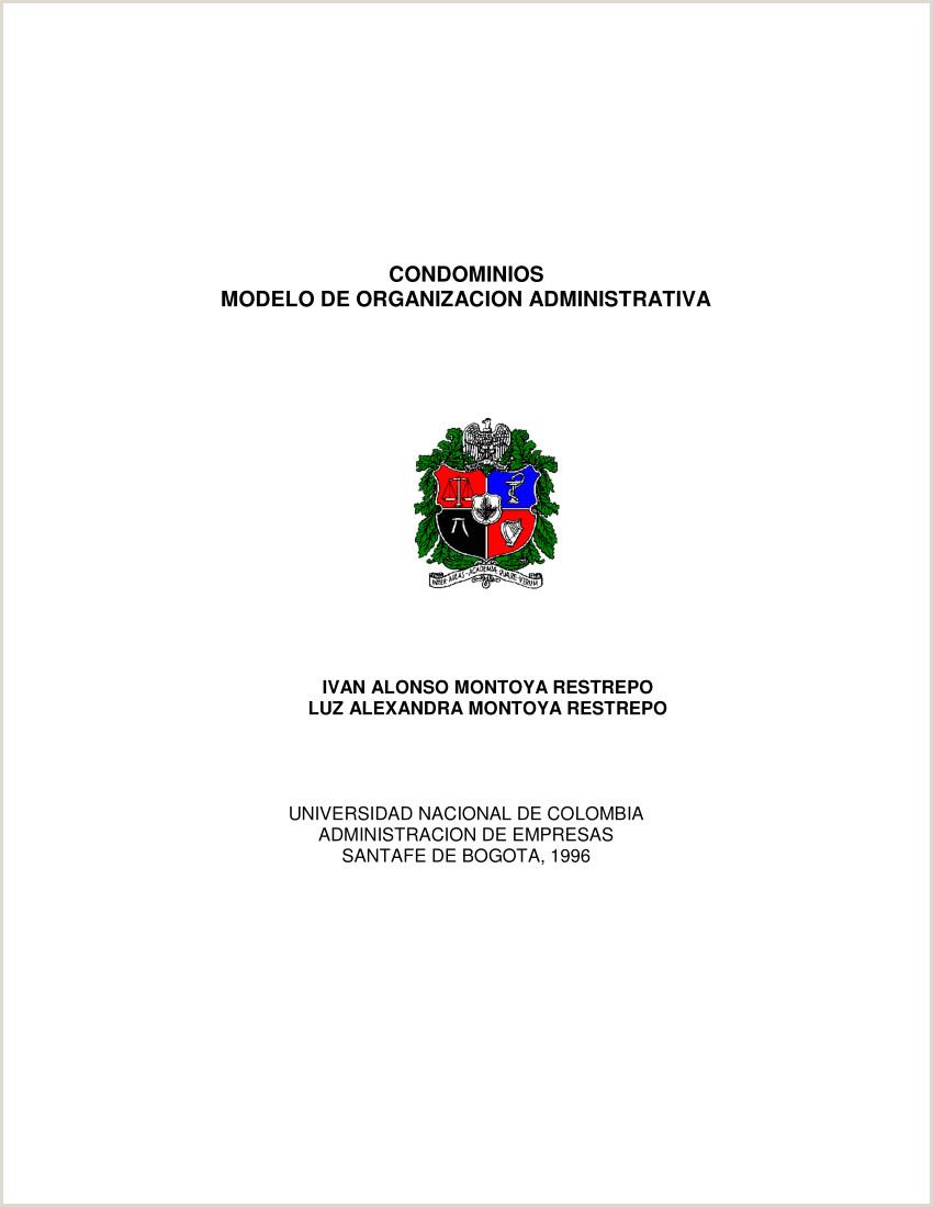"PDF CONDOMINIOS MODELO DE ORGANIZACI""N ADMINISTRATIVA"