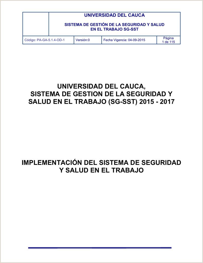 Formato De Hoja De Vida Gtc 185 Pa Ga 5 1 4 Od 1 Implementaci³n Del Sistema De Seguridad Y
