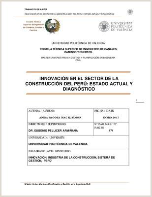 "INNOVACI""N EN EL SECTOR DE LA CONSTRUCCI""N DEL PERš ESTADO"