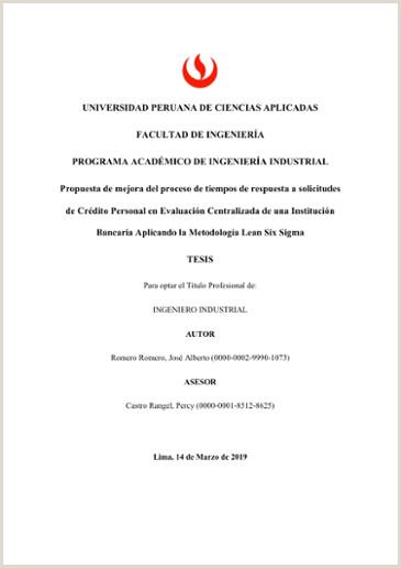 Formato De Hoja De Vida Ingeniero Industrial Propuesta De Mejora Del Proceso De Tiempos De Respuesta A