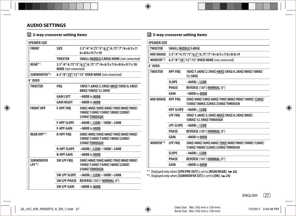Formato De Hoja De Vida Ingles Jvc Kw R930bts R935bts K User Manual R930bts R935bts B5a