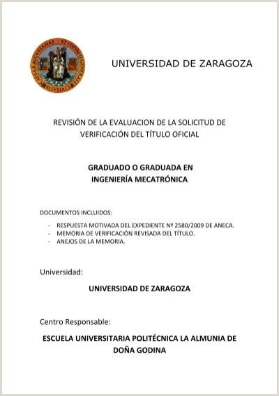 Formato De Hoja De Vida Kimberly Grado En Ingeniera Mecatr³nica Universidad De Zaragoza