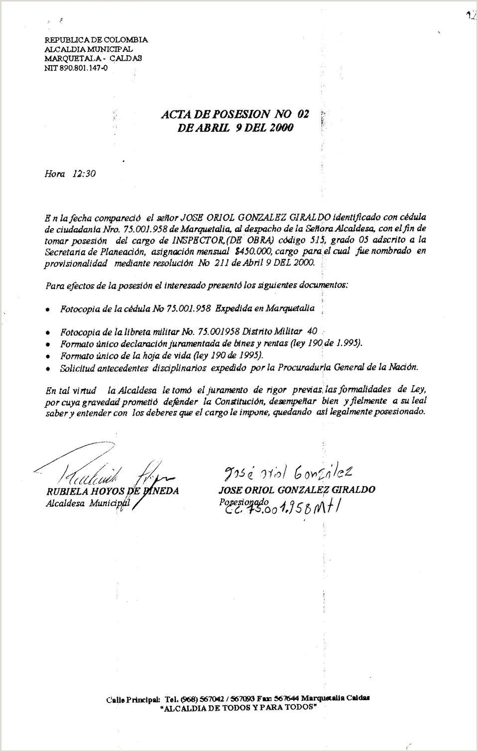 "Formato De Hoja De Vida Ley 190 D L Informaci""n General Periodo Valuado Dosdo Da Jj[ Jmes"
