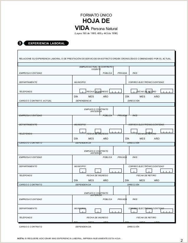 Formato De Hoja De Vida Ley 190 formato Unico Hoja De Vida Persona Gobierno