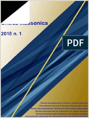 Formato De Hoja De Vida Lindas Critica Massonica N 1 Gen 2018 In Pubblicazione