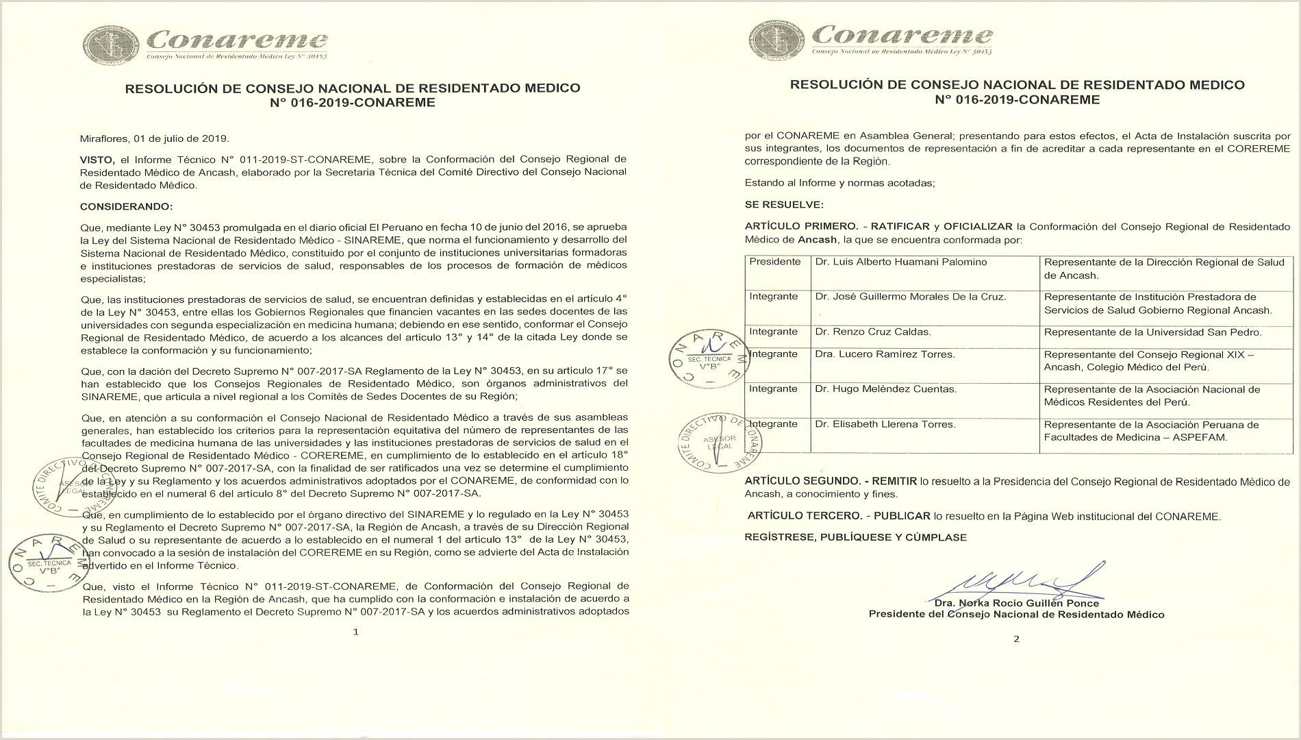 Formato De Hoja De Vida Medico General Direcci³n Regional De Salud Ancash