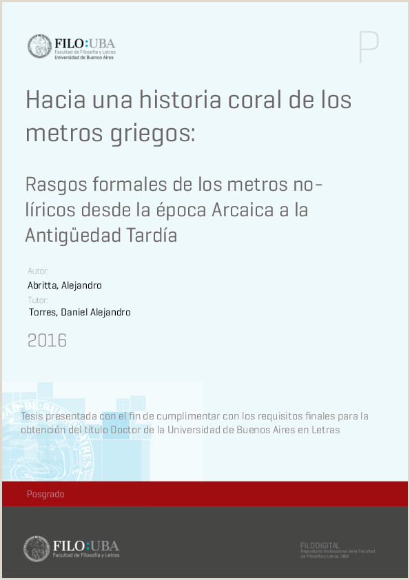 PDF Hacia una historia coral de los metros griegos Rasgos