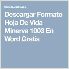 Formato De Hoja De Vida Minerva 1003 Pdf 173 Mejores Imágenes De Navidad En 2019